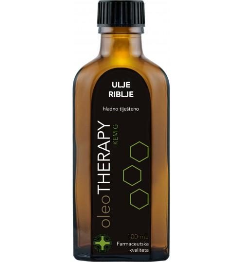 oleoTHERAPY riblje ulje, hladno tiješteno 100 ml (iecoris aselli oleum press)