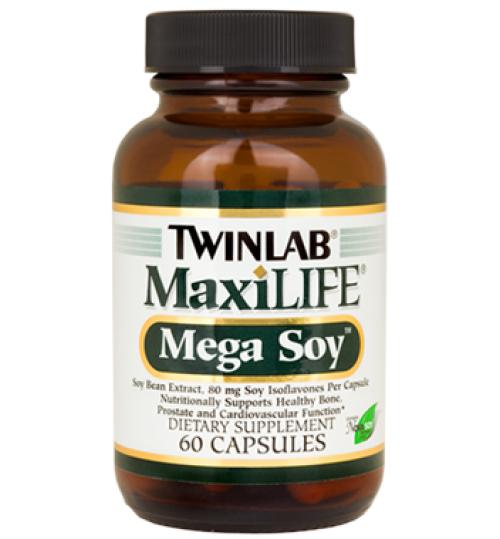 MEGA SOY caps.  60 x 200 mg  TWINLAB