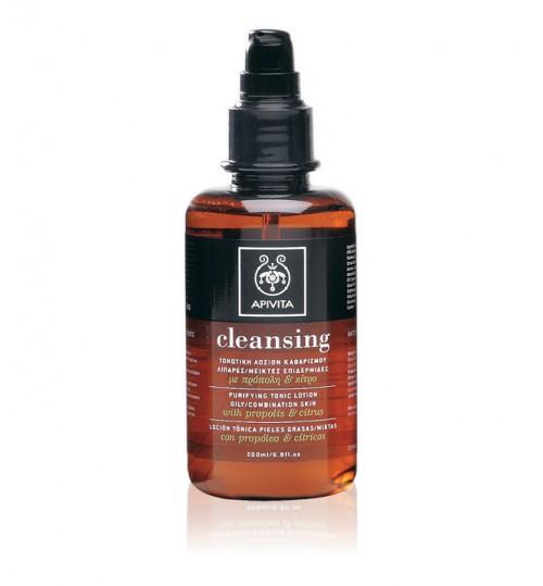 Tonik losion za čišćenje lica za masnu/mješovitu kožu s citrusom i propolisom