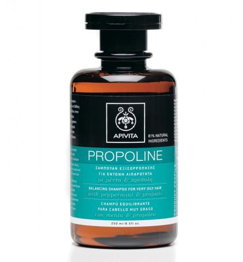 Propoline uravnotežujući šampon za izrazito masnu kosu s paprenom metvicom i propolisom