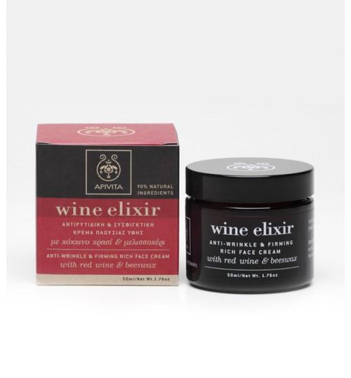 WINE ELIXIR učvršćujuća bogata krema protiv bora sa pčelinjim voskom i crvenim vinom