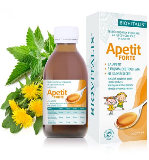 APETIT FORTE Tekući dodatak prehrani   200 ml BIOVITALIS